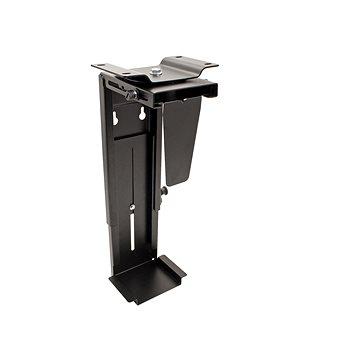 OEM Držák PC pod desku stolu/na zeď, černý, do 10kg