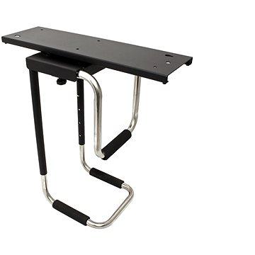 OEM Držák PC pod desku stolu, otočný, černý, do 30kg