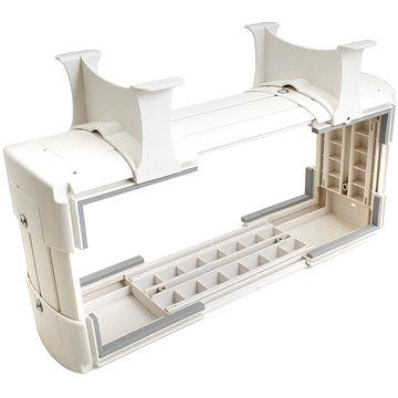 OEM Držák PC pod desku stolu, vertikální / horizontální, do 30kg, bílý
