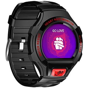 Chytré hodinky ALCATEL ONETOUCH GO WATCH SM03, Black/Dark Red (SM03-2BALXE7)