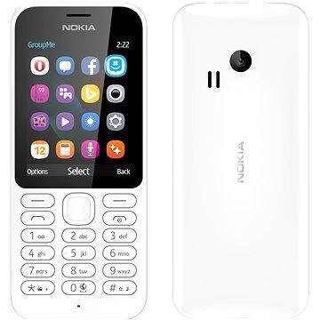 Nokia 222 bílá Dual SIM (A00026338)