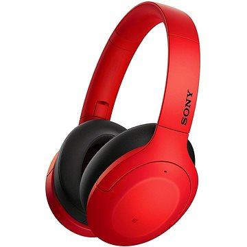Sony Hi-Res WH-H910N, červeno-černá (WHH910NR.CE7)