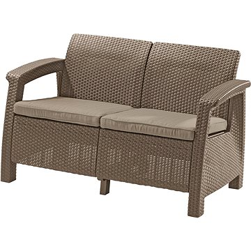 Allibert Lavice CORFU LOVE SEAT cappucino (227644)