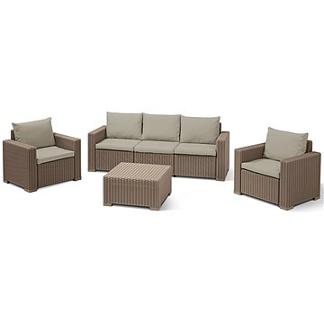 Allibert Set CALIFORNIA 3 SEATERS cappucino (212507)