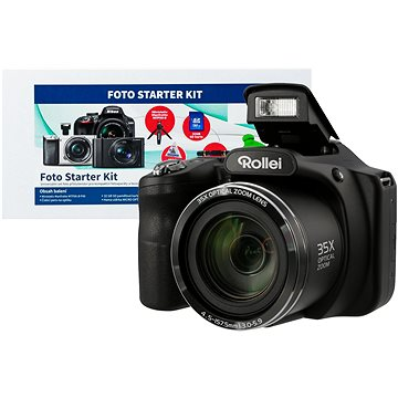 Rollei Powerflex 350 černý + Alza Foto Starter Kit