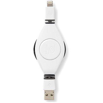 RETRAK iPad & iPhone USB typ A/ Apple lightning - bílý, 1m (EULTUSBWT)