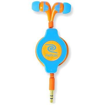 RETRAK audio NEON modro-oranžové (EUAUDNBUOR)
