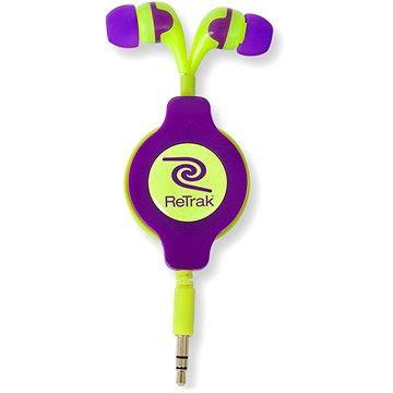 RETRAK audio NEON fialovo-žluté (EUAUDNRLYE)