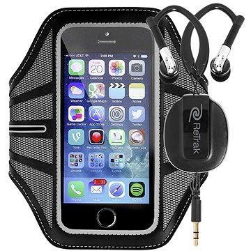 RETRAK Sport Armband Large černé + sportovní sluchátka do uší (ETARMLBK)