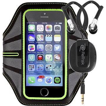 RETRAK Sport Armband Large zelené + sportovní sluchátka do uší (ETARMLGN)