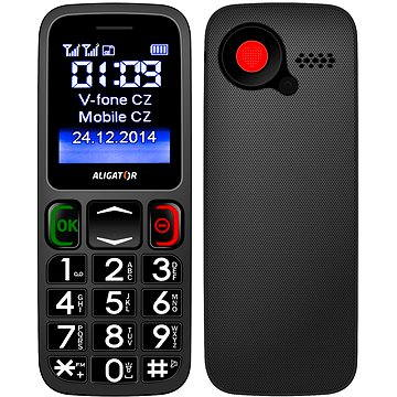 Aligator A320 Senior Grey Black Dual SIM (A320GB)