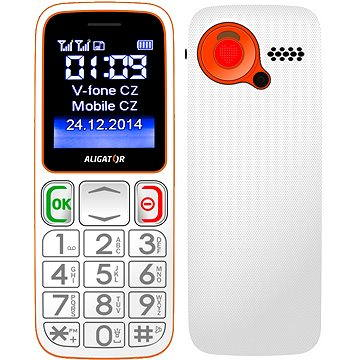 Aligator A320 Senior White Orange Dual SIM (A320WO)