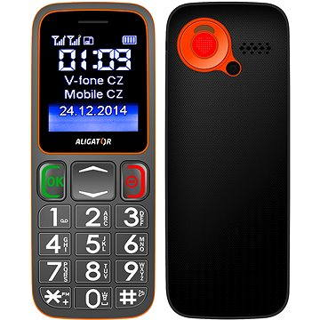 Aligator A320 Senior Grey Orange Dual SIM (A320GO)
