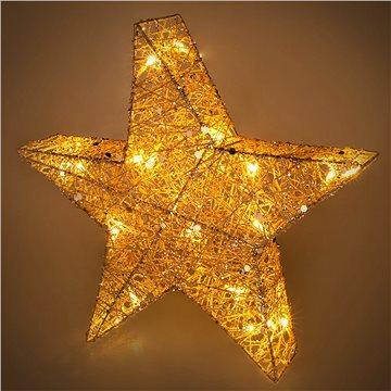 RETLUX RXL 327 hvězda třpyt. 20 LED 40cm (RETLUX RXL 327)