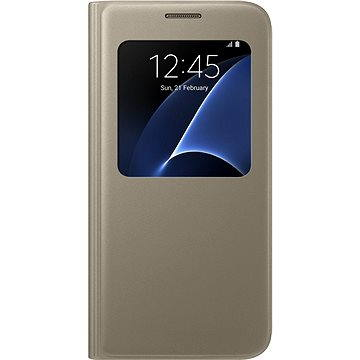 Samsung S-View Cover Galaxy S7 EF-CG930P zlaté (EF-CG930PFEGWW)