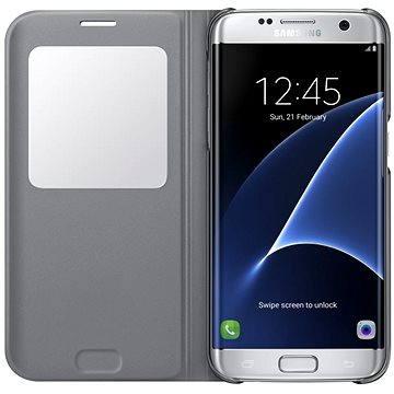 Samsung S-View Cover Galaxy S7 edge EF-CG935P stříbrné (EF-CG935PSEGWW)