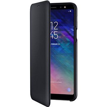 Samsung Galaxy A6+ Wallet Cover černé (EF-WA605CBEGWW)