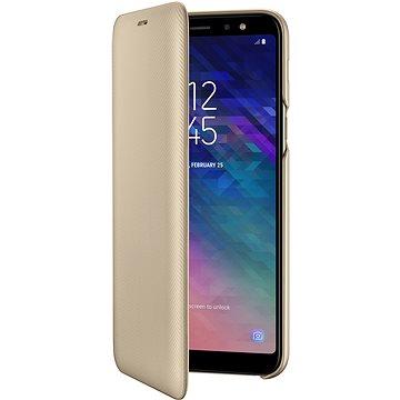 Samsung Galaxy A6+ Wallet Cover zlaté (EF-WA605CFEGWW)