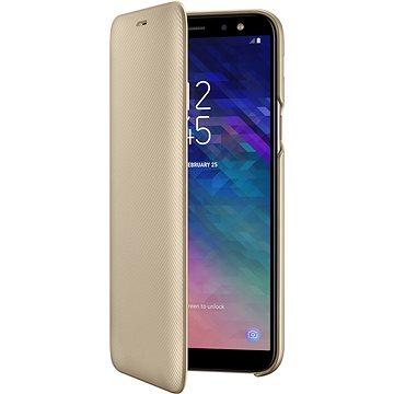 Samsung Galaxy A6 Wallet Cover zlaté (EF-WA600CFEGWW)