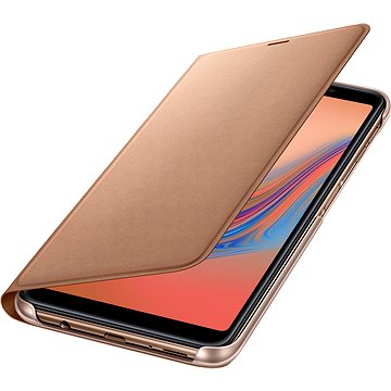 Samsung Galaxy A7 2018 Flip Wallet Cover Gold (EF-WA750PFEGWW)