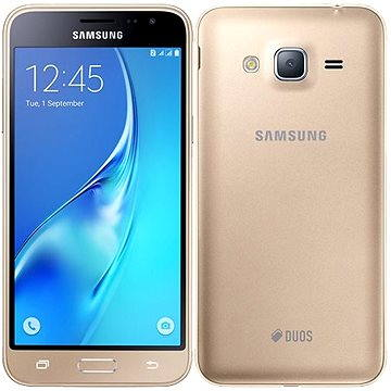 Samsung Galaxy J3 Duos (2016) zlatý (SM-J320FZDDETL) + ZDARMA Digitální předplatné Týden - roční Digitální předplatné Interview - SK - Roční od ALZY