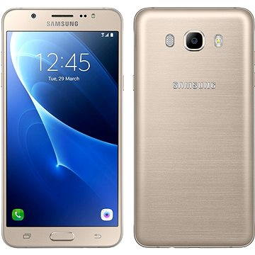 Samsung Galaxy J7 (2016) zlatý (SM-J710FZDNETL) + ZDARMA Ochranný kryt Samsung GP-J710K poloprůhledný Digitální předplatné Týden - roční