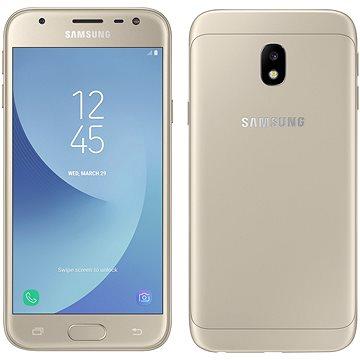 Samsung Galaxy J3 Duos (2017) zlatý (SM-J330FZDDETL) + ZDARMA Digitální předplatné Interview - SK - Roční od ALZY Digitální předplatné Týden - roční