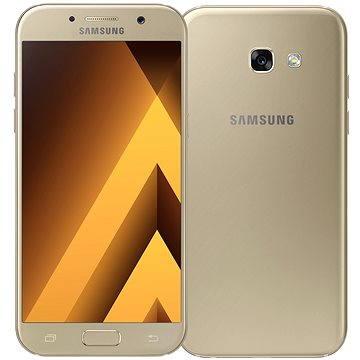Samsung Galaxy A5 (2017) zlatý (SM-A520FZDAETL) + ZDARMA Dárková sada kosmetická GILLETTE Mach3 Turbo - Star Wars design kazeta Album MP3 Zimní playlist 2017