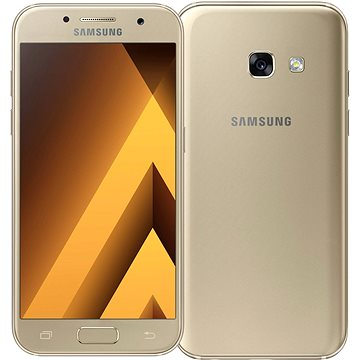Samsung Galaxy A3 (2017) zlatý (SM-A320FZDNETL_) + ZDARMA Digitální předplatné Interview - SK - Roční od ALZY