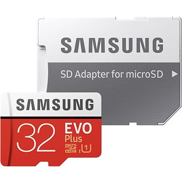 Samsung MicroSDHC 32GB EVO Plus UHS-I U1 + SD adaptér (MB-MC32GA/EU)