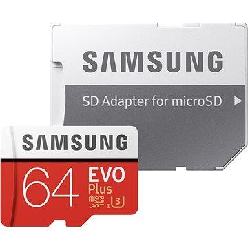 Samsung micro SDXC 64GB EVO Plus Class 10 UHS-I + SD adaptér (MB-MC64GA/EU)