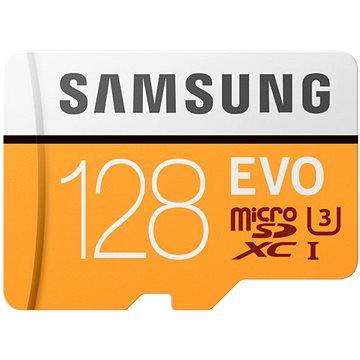 Samsung MicroSDXC 128GB EVO UHS-I U3 + SD adaptér (MB-MP128GA/EU)