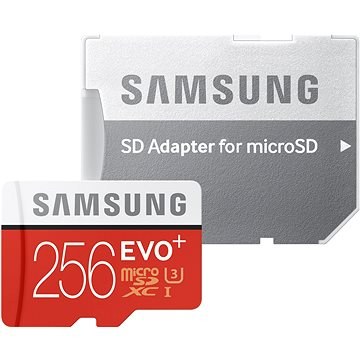Samsung MicroSDXC 256GB EVO Plus UHS-I U3 + SD adaptér (MB-MC256GA/EU)