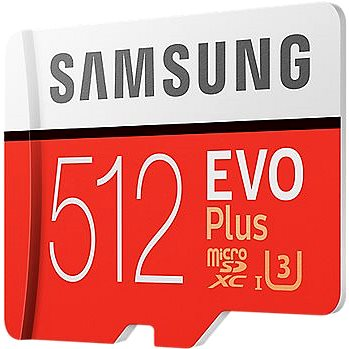 Samsung MicroSDXC 512GB EVO Plus UHS-I U3 + SD adaptér (MB-MC512GA/EU)