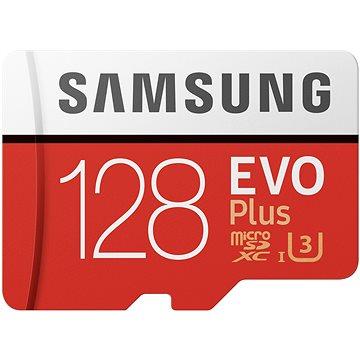 Samsung MicroSDXC 128GB EVO Plus UHS-I U3 + SD adaptér (MB-MC128HA/EU)