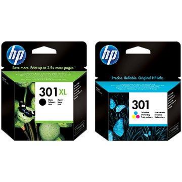 HP CH563EE + CH562EE č. 301 černá XL a barevná (CH563EE+CH562EE)