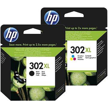 HP č. 302XL černá+barevná (F6U68AE+F6U67AE)