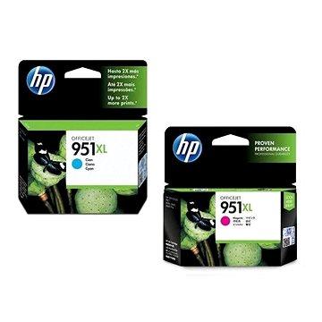 HP CN046AE č. 951XL azurová + HP CN047AE č. 951XL purpurová (CN046AE+CN047AE)