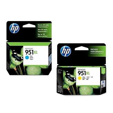 HP CN046AE č. 951XL azurová + HP CN048AE č. 951XL žlutá (CN046AE+CN048AE)