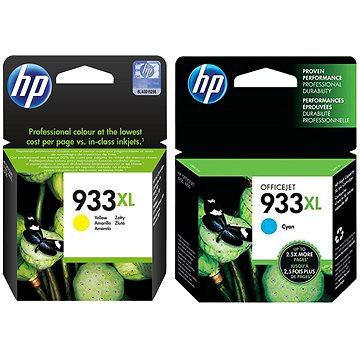 HP CN056AE + HP CN054AE č. 933XL žlutá + azurová (CN056AE+CN054AE)