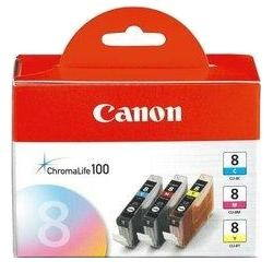 Canon CLI-8 C/M/Y Pack - azurova, purpurová, žlutá (0621B029)