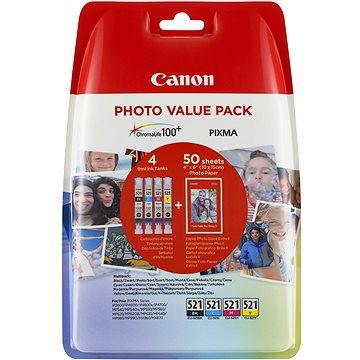 Canon CLI-521 multipack + fotopapír PP-201 (2933B010)