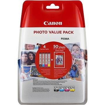 Canon CLI-571 multipack + fotopapír PP-201 (0386C006)