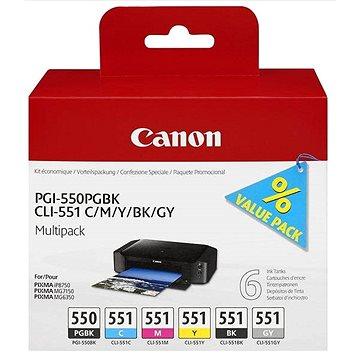 Canon PGI-550/CLI-551 PGBK/C/M/Y/BK/GY Multi Pack (6496B005)