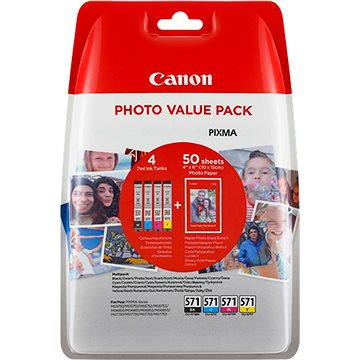 Canon XL CLI-571 C/M/Y/BK PHOTO VALUE Multi pack (0332C005)