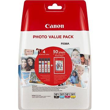 Canon CLI-581 XL Multipack + fotopapír PP-201 (2052C004)