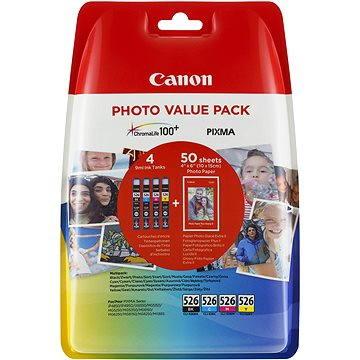 Canon CLI-526 multipack + fotopapír PP-201 (4540B017)