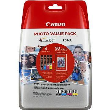 Canon CLI-551 multipack + fotopapír PP-201 (6508B005)