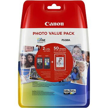 Canon PG-540XL + CL-541XL + fotopapír GP-501 (5222B013)