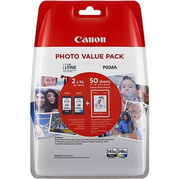 Canon PG-545XL + CL-546XL + fotopapír GP-501 (8286B006)